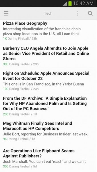 Feedly News Reader-Android