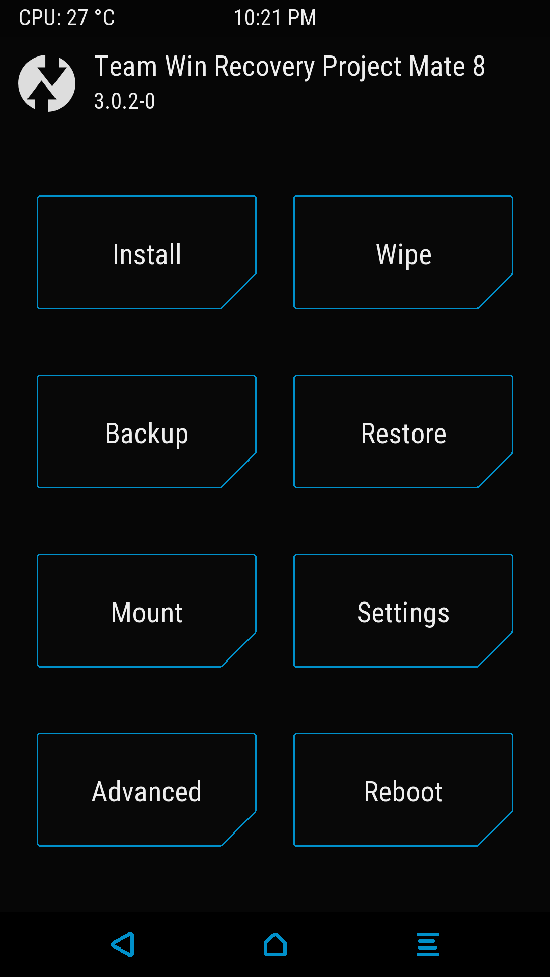 Download and install new TWRP 3.0.2 on Huawei Mate 8